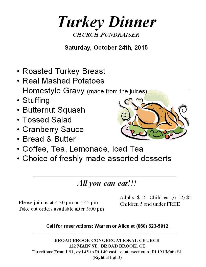 Turkey Supper – October 24, 2015