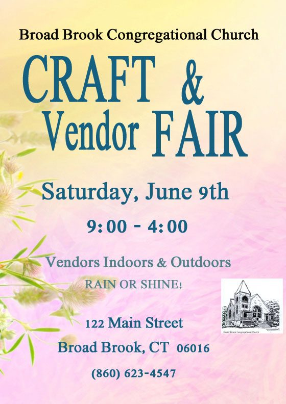 Craft Fair June 9, 2018
