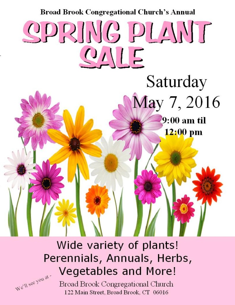 flower sale flyer 2016